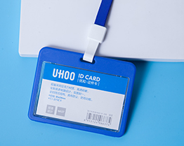 Double sides visible ID card holder 6637